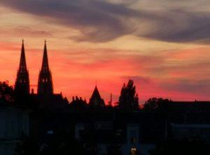 Regensburg bei Abendrot