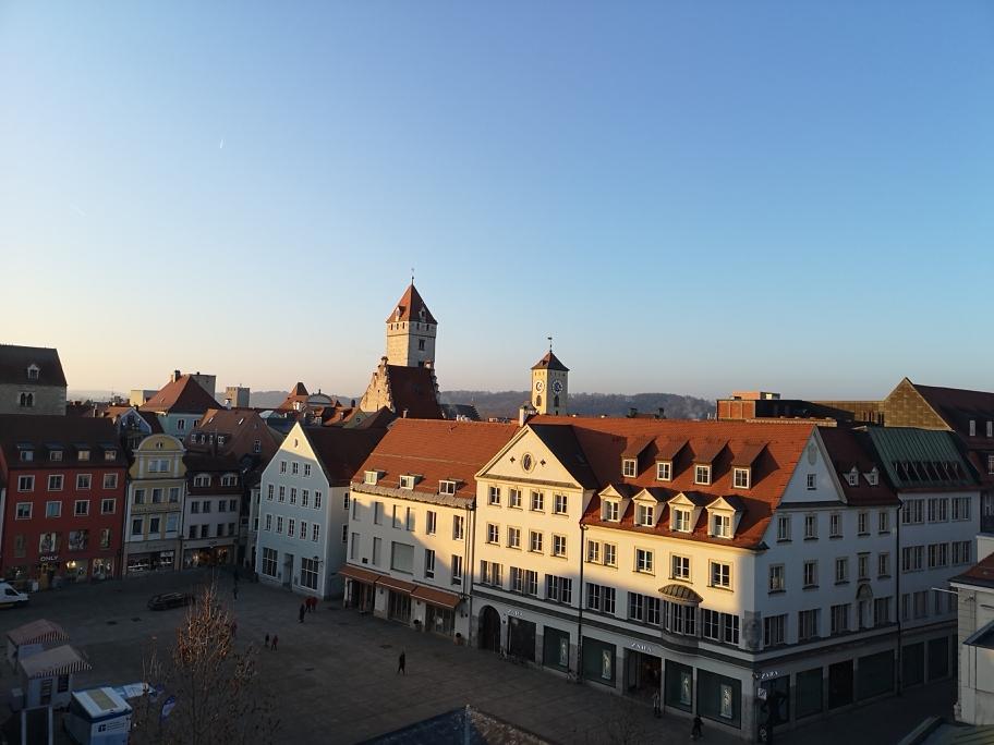 Blick von der Dachterrasse Galeria Kaufhof, Regensburg